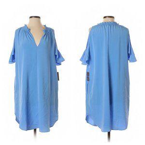 Elizabeth Cold Shoulder Dress - Beachglass Blue